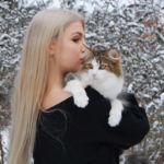 Jenny - norvég erdei macska - és Panka