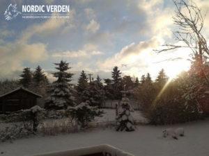 Tél a hegyen, az udvarunkban